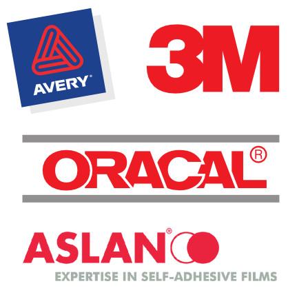 Usiamo vinili di altissima qualità Avery, 3M, Oracal