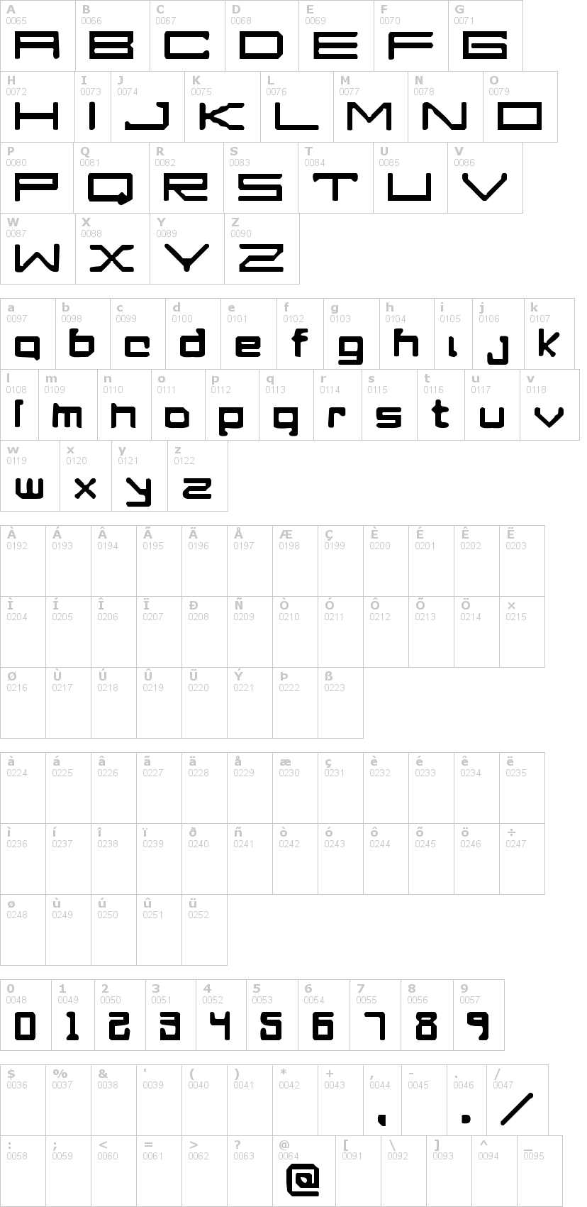 Lettere dell'alfabeto del font a-perfect-drowning con le quali è possibile realizzare adesivi prespaziati