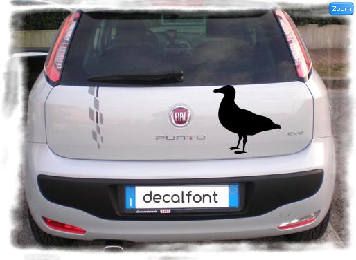 L'effetto dell'adesivo Albatros su una Fiat Punto
