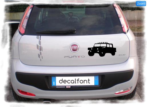 L'effetto dell'adesivo Jeep 3 su una Fiat Punto