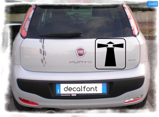 L'effetto dell'adesivo Faro su una Fiat Punto