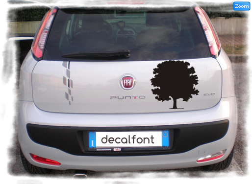 L'effetto dell'adesivo vetrofania-acero su una Fiat Punto