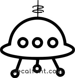 Adesivo Astronave aliena