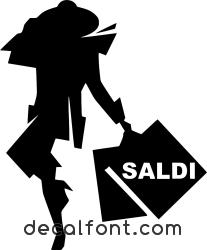 Adesivo Donna Saldi