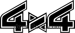 Adesivo 4x4 stripes