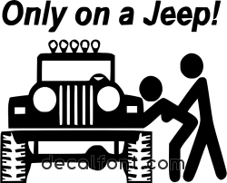 Adesivo Only on a jeep