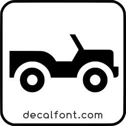 Adesivo Jeep