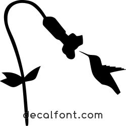 Adesivo fiore-colibri-adesivo