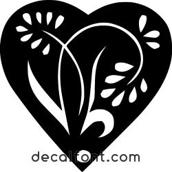 Adesivo fiore-cuore-vetrofania
