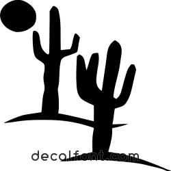 Adesivo sticker-deserto