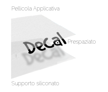 Schema adesivo prespaziato